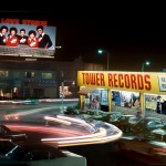 Tower Records at night 1980