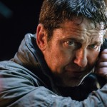 Gerard Butler frantically talking on the phone in the movie Angel Has Fallen
