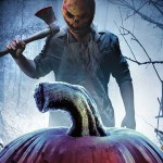 Pumpkins movie poster with man with pumpkin head holding a hatchet