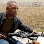 Will Smith on a motorcycle in the movie Gemini Man