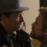 Edward Norton confronts Willem Dafoe in the movie Motherless Brooklyn