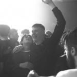 Lorn Macdonald and Cristian Ortega partying in a black and white still from the movie Beats