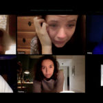 Zoom meeting image of people on their webcams from the movie Host