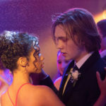 Taylor Russell and Charlie Plummer dance at prom in the movie Words on Bathroom Walls